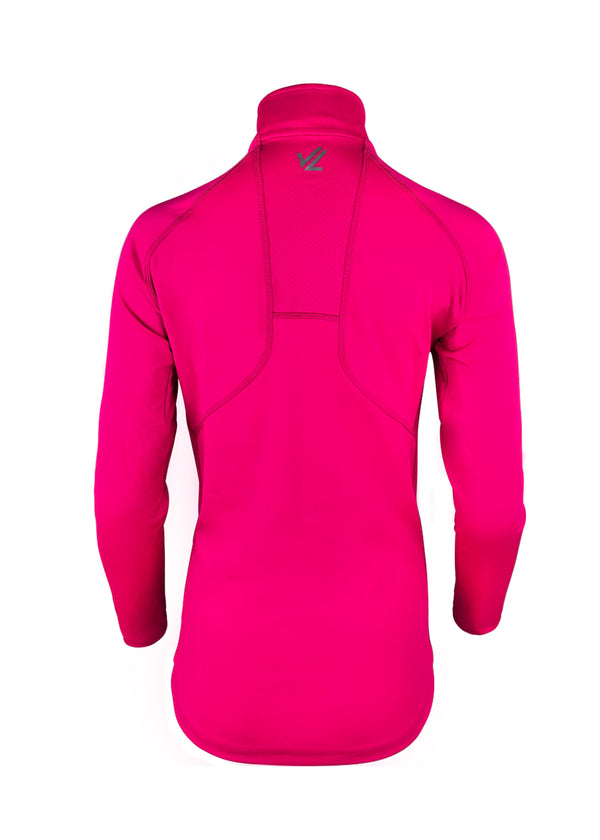 Women's Thermo-light Performance Quarter Zip Hot Pink