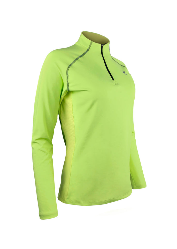 Women's Thermo-light Performance Quarter Zip Sunny Lime JL Racing QZ19 $69.95 Size XXXLarge Color Sunny Lime JLAthletics