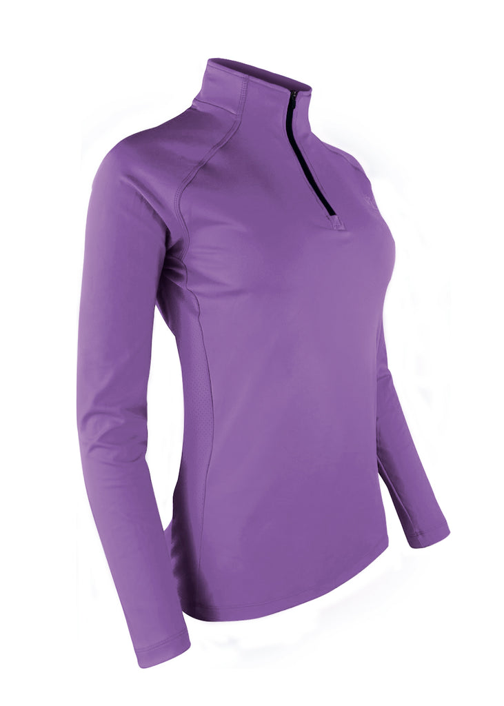 Tech Shirts Technical Shirts Performance Top Performance Tank Workout Top Long Sleeve Short Sleeve Tshirt Women's Thermo-light Performance Quarter Zip Amethyst JL Racing $50-$100, Long Sleeve, Tops, What's New, Women's $69.95 Size Small  JLAthletics