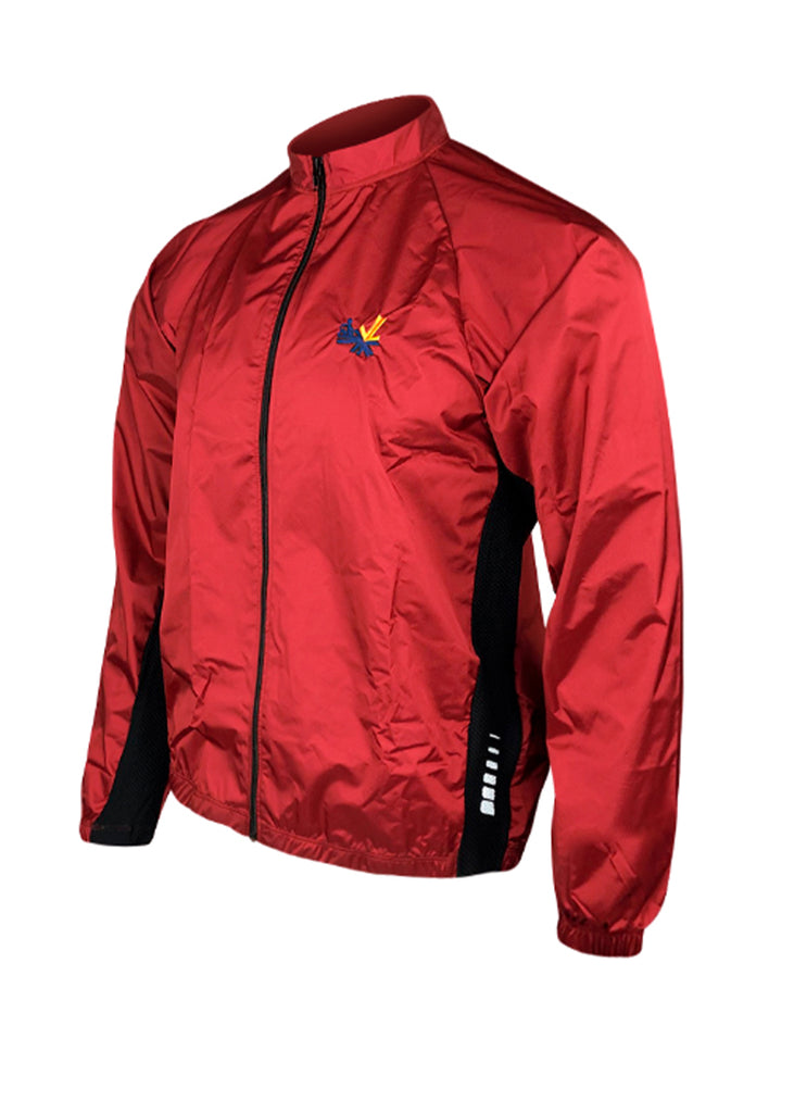Full Zip Wind Jacket Red