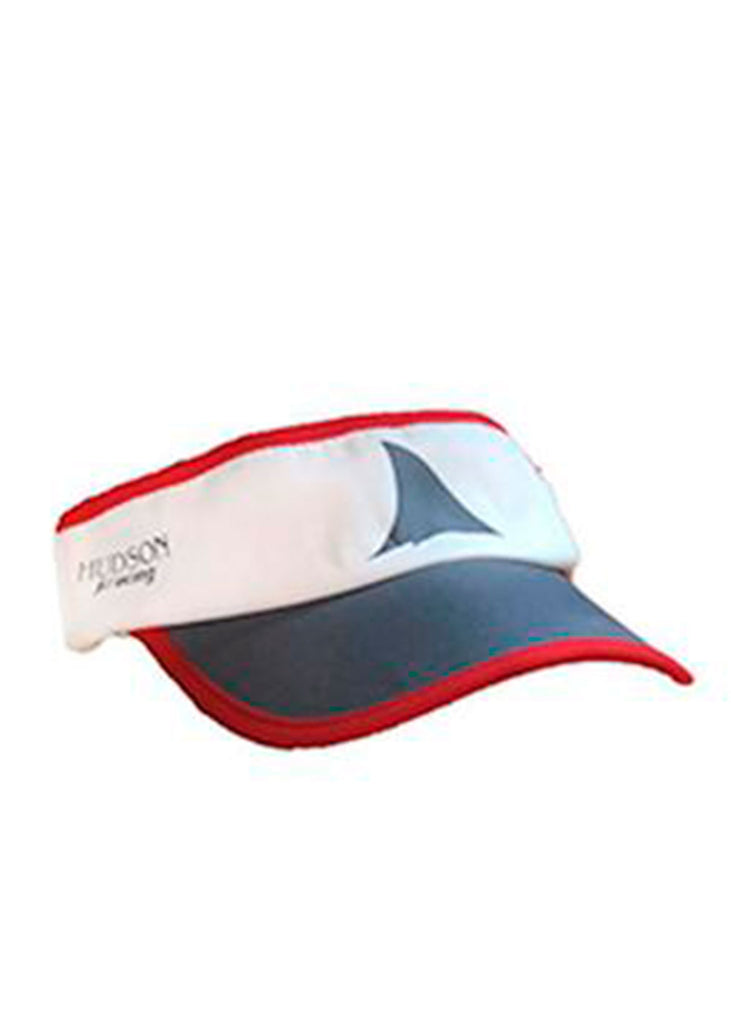 HUDSON Visor Hudson $10-$50, Accessories + Warmers, Hats + Headbands, Men's, Visor, Women's $24.95 Color White / Gray  JLAthletics