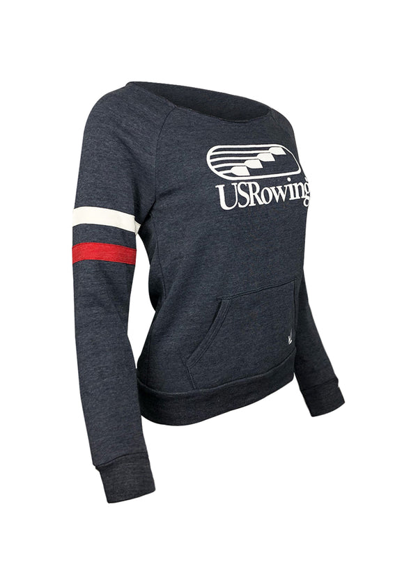Tech Shirts Technical Shirts Performance Top Performance Tank Workout Top Long Sleeve Short Sleeve Tshirt USRowing Women's Loose Crewneck Sweatshirt US Rowing $10-$50, Hoodies + Sweatshirts, Long Sleeve, Outerwear, Tops, USA, What's New, Women's $39.95 Size XSmall  JLAthletics