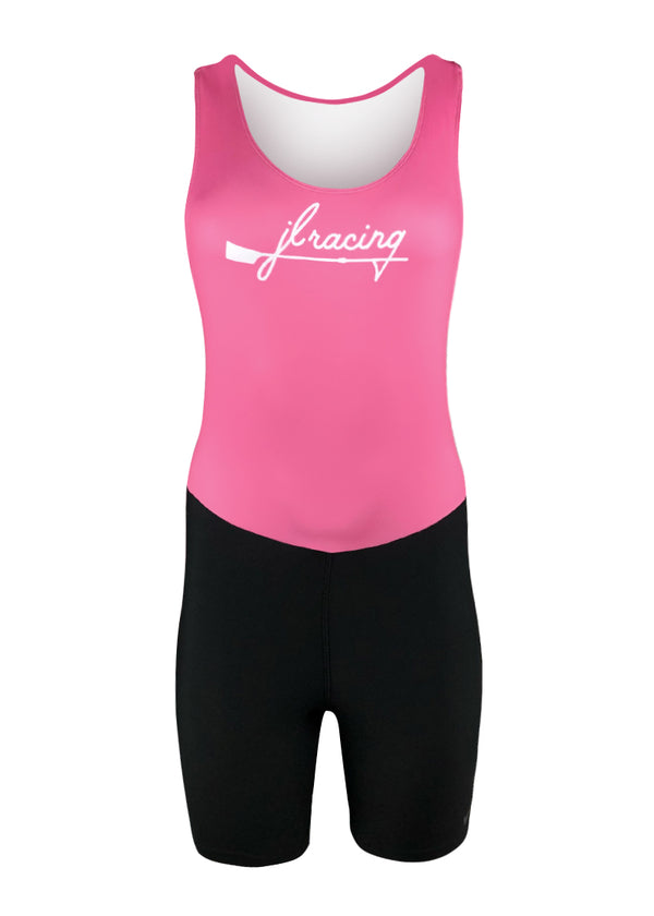 rowing unisuit zootie allinone AIO Women's Pink Script Logo Unisuit JL Racing $50-$100, Unisuit, What's New, Women's $54.95 Size XSmall  JLAthletics
