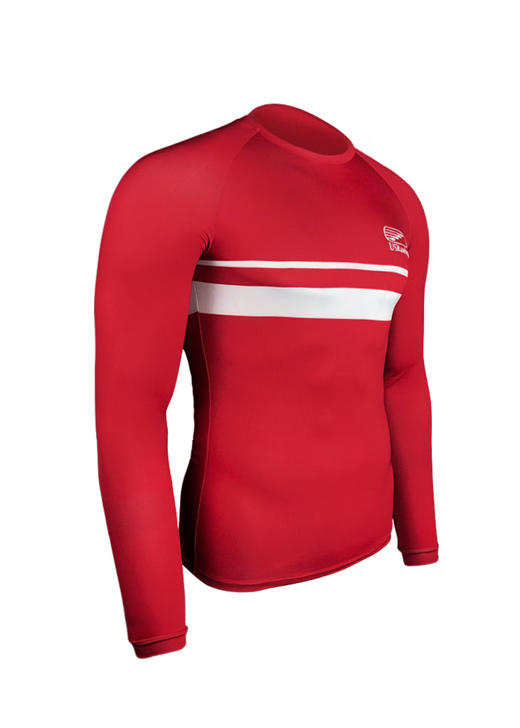 Tech Shirts Technical Shirts Performance Top Performance Tank Workout Top Long Sleeve Short Sleeve Tshirt USRowing Men's Long Sleeve Tech Shirt Red US Rowing $10-$50, Long Sleeve, Men's, Tech Shirt, Tops, What's New $54.95 Size Small  JLAthletics