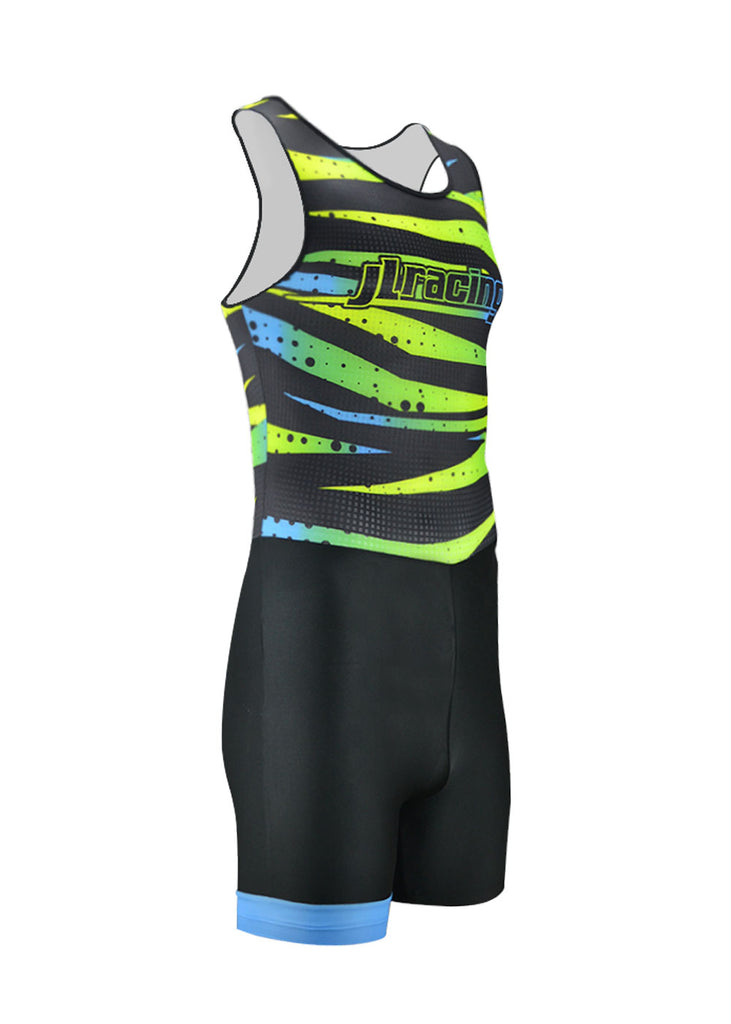 rowing unisuit zootie allinone AIO Men's Bright Lights Collection Unisuit JL Racing Bargain, Cycle, Men's, The Bright Lights Collection, Unisuit $38.95 Size XSmall  JLAthletics