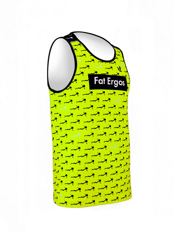 Fat Ergos Men's Performance Tank Hi-Viz