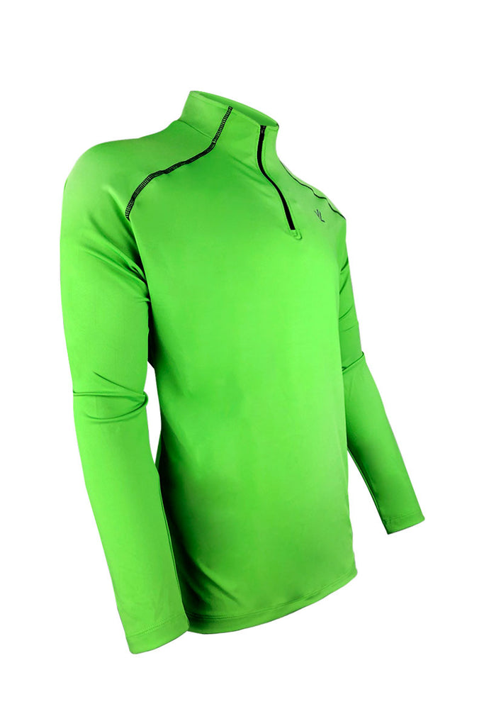 Men's Thermo-light Performance Quarter Zip Green/Steel JLAthletics QZ19 $69.95 Size Small  JLAthletics