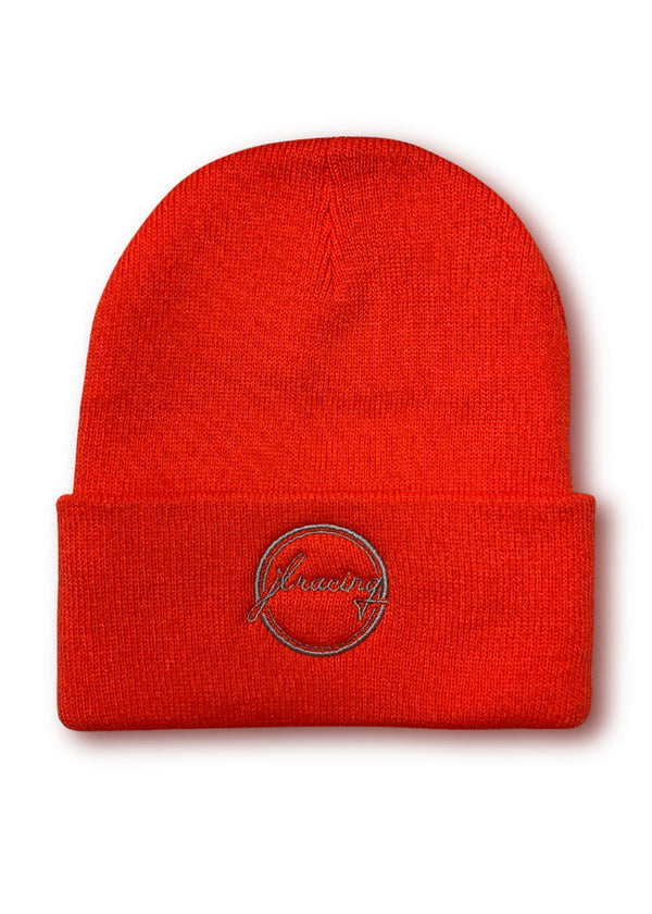 Hi Viz high visibility Hi-Viz Script Logo Hi-Viz Orange Beanie JL Racing $10-$50, Accessories + Warmers, Beanies, Hats + Headbands, Hi-Viz Gear, Men's, What's New, Women's $24.95 JLAthletics