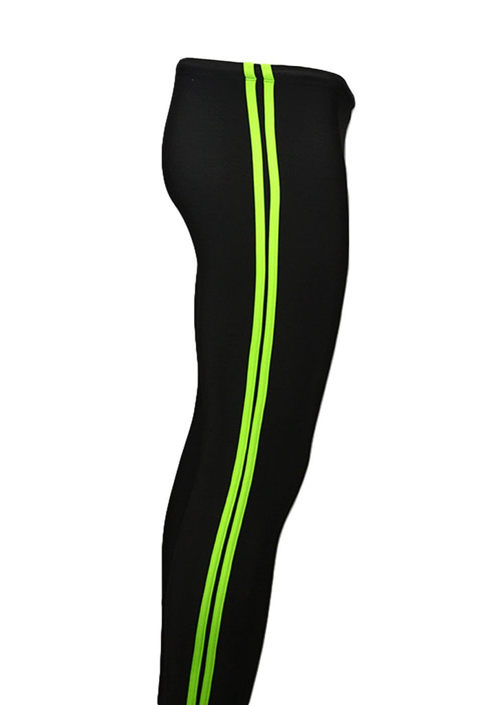 bottoms tights trou workout pant sweats sweatpants shorts capri bibshorts Polypro Double Speed Stripe Tights JLAthletics $50-$100, Bargain, Bottoms, Leggings, Men's, Poly Pro, Tights, Women's $54.95 Size XSmall Color Black / Lime JLAthletics