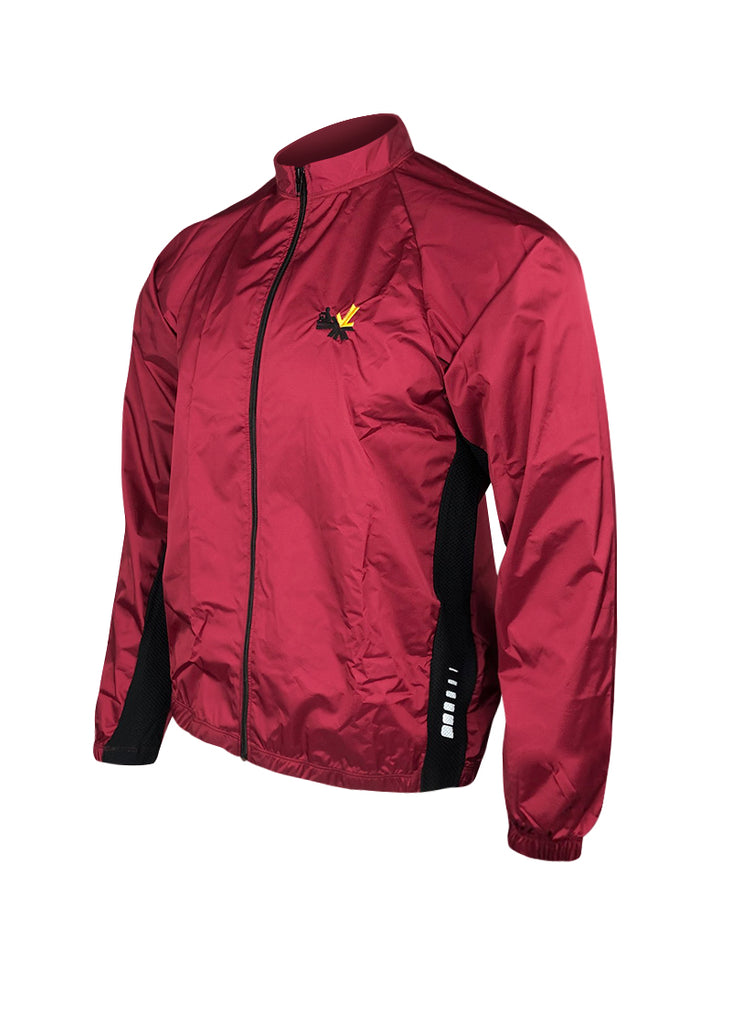 Full Zip Wind Jacket Maroon