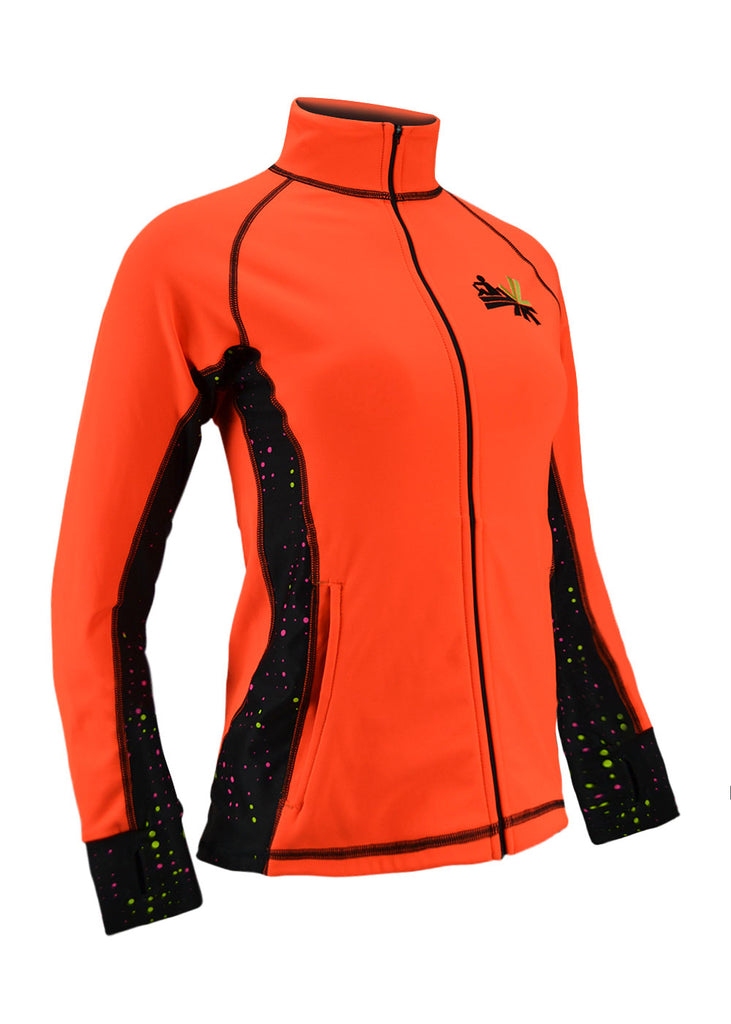 Tech Shirts Technical Shirts Performance Top Performance Tank Workout Top Long Sleeve Short Sleeve Tshirt River Jacket Flo Orange JL Racing $50-$100, Bargain, Long Sleeve, Outerwear, River Jackets, Tops, Women's $69.95 Size XSmall  JLAthletics