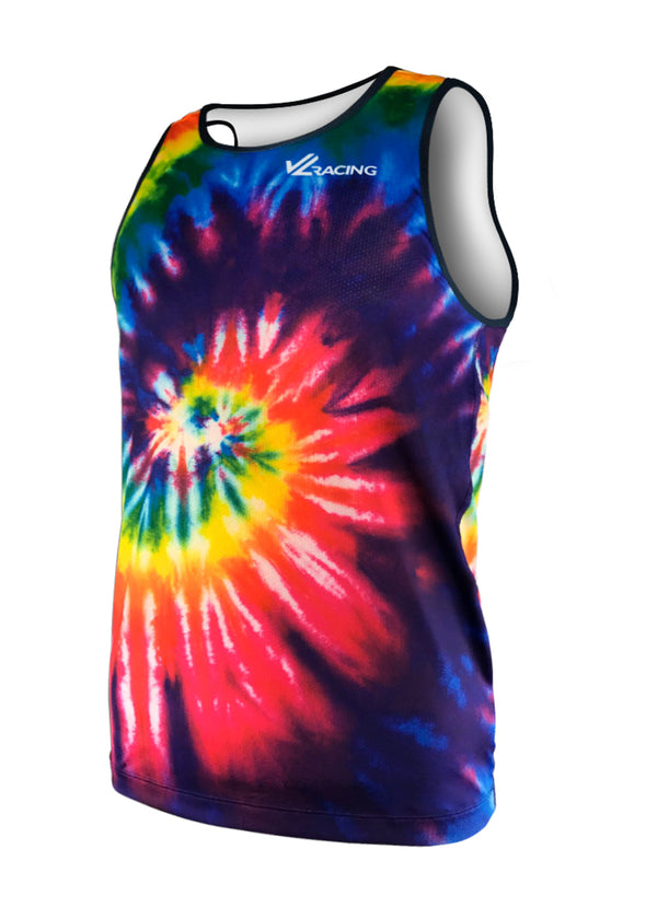 Men's Trippy Dippy Tie Dye  Performance Tank