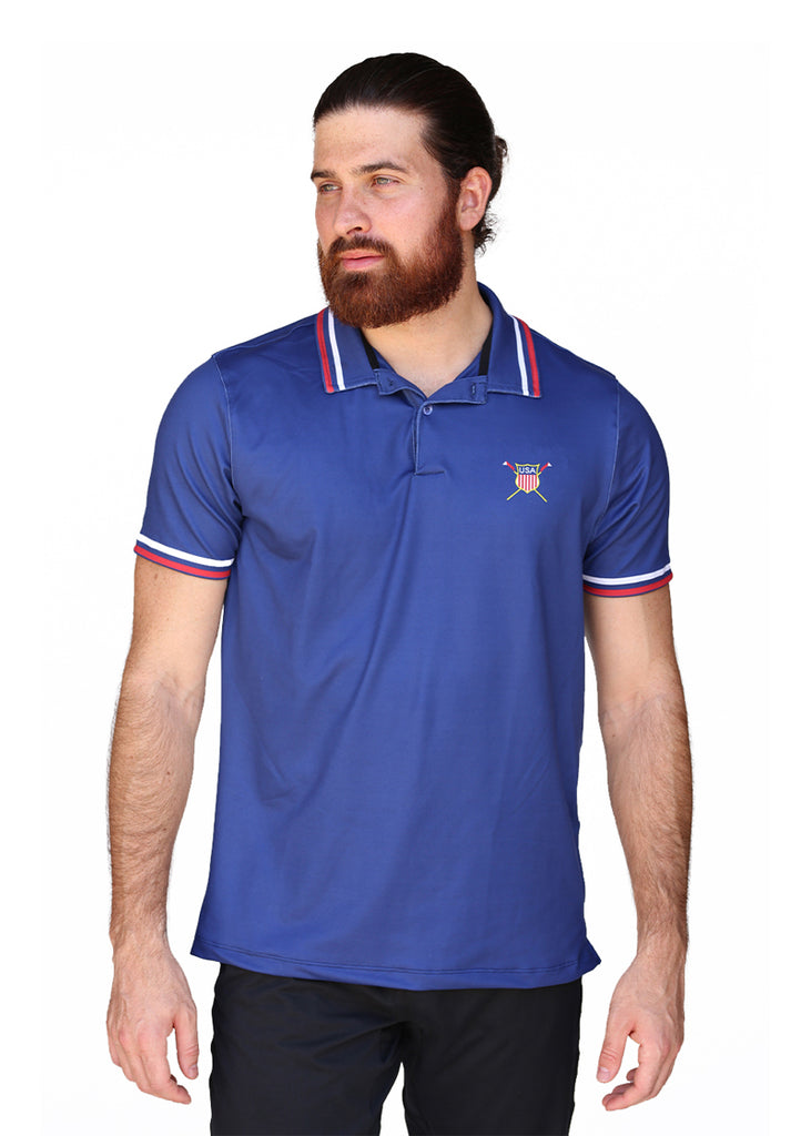 USRowing Men's Performance Polo Navy