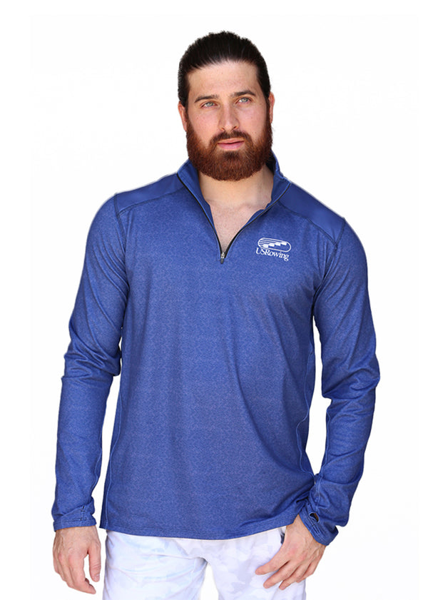 Tech Shirts Technical Shirts Performance Top Performance Tank Workout Top Long Sleeve Short Sleeve Tshirt USRowing Men's Performance Quarter Zip Navy US Rowing $50-$100, Long Sleeve, Men's, Outerwear, Quarterzip, Tops, USA, Wild Oar $78.95 Size XSmall  JLAthletics
