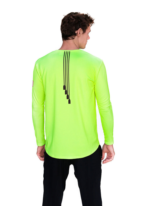USRowing Men's Long Sleeve Hi-Viz