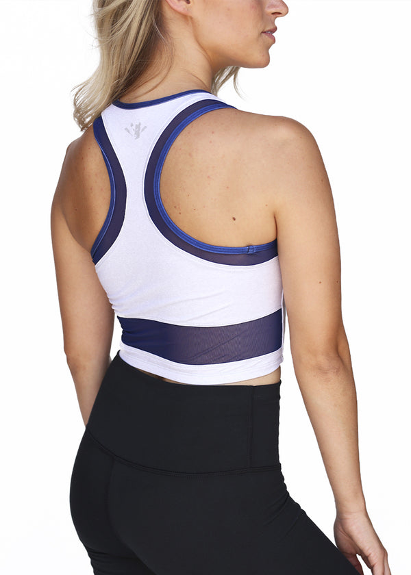 USRowing Women's Performance Mesh Crop Gray