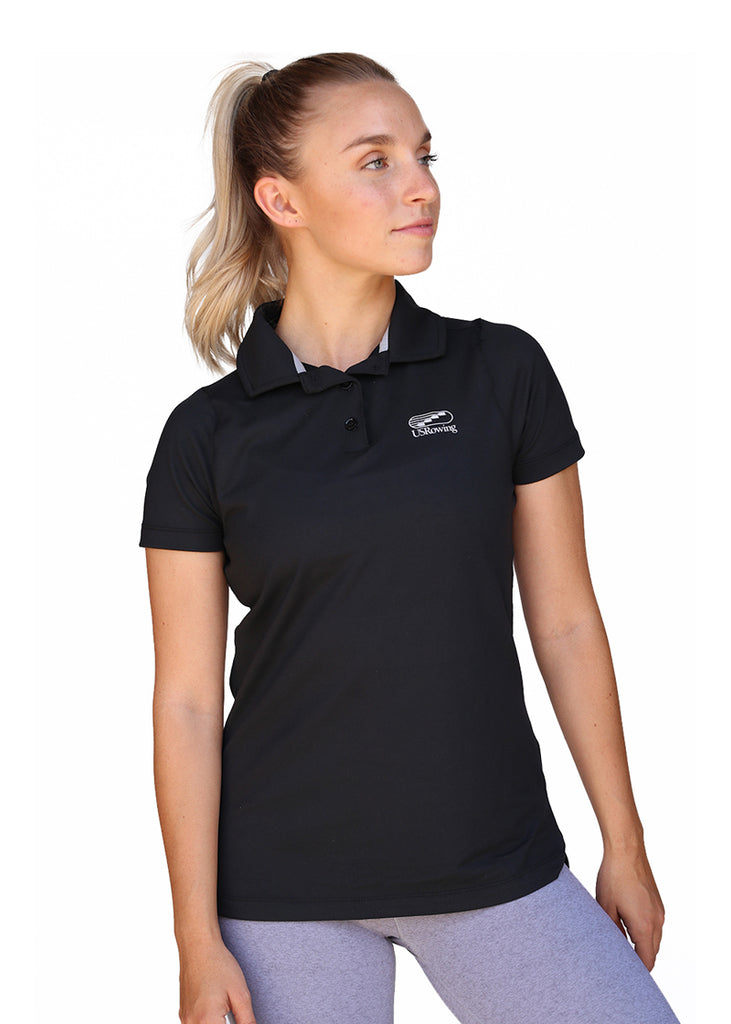 Tech Shirts Technical Shirts Performance Top Performance Tank Workout Top Long Sleeve Short Sleeve Tshirt USRowing Women's Polo Black US Rowing Performance Shirts, Polo, Short Sleeve, Tops, Women's $67.95 Size Medium  JLAthletics