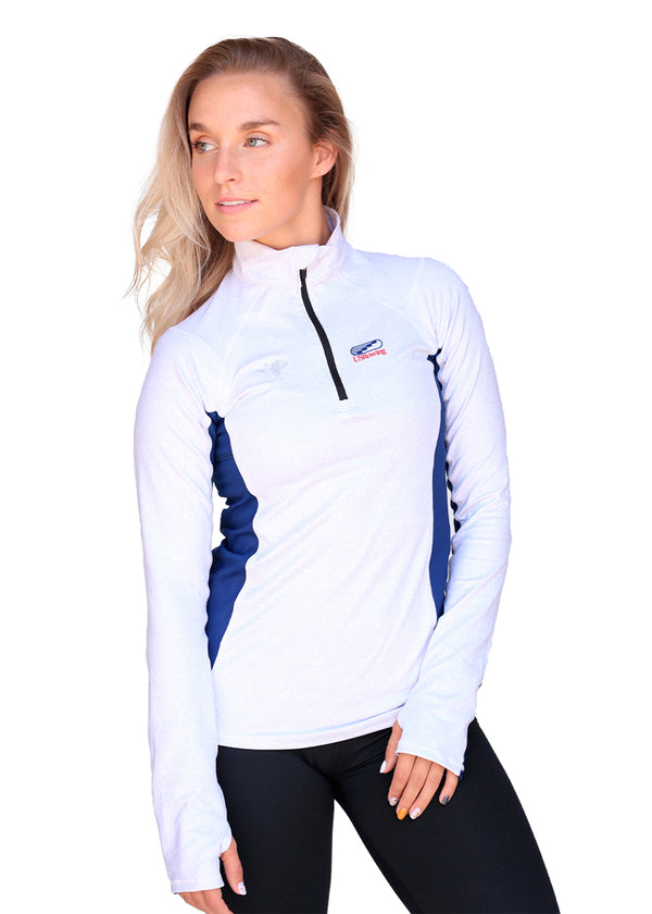 USRowing Women's Quarter Zip Gray