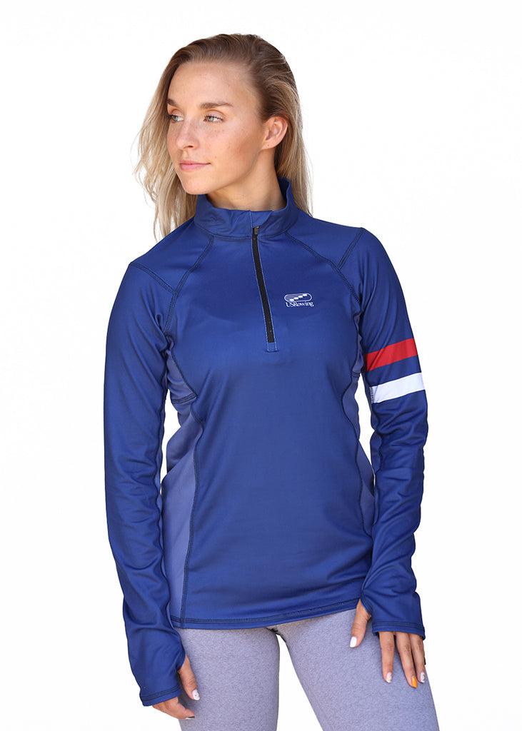 USRowing Women's Quarter-Zip Navy