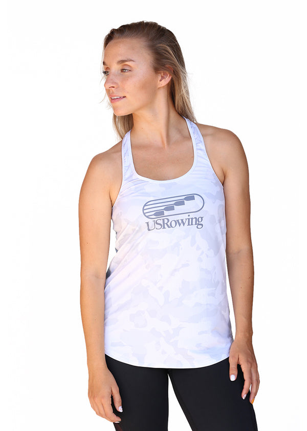 USRowing Women's Performance Racer Tank Light Camo