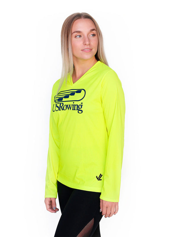USRowing Women's Long Sleeve Hi-Viz