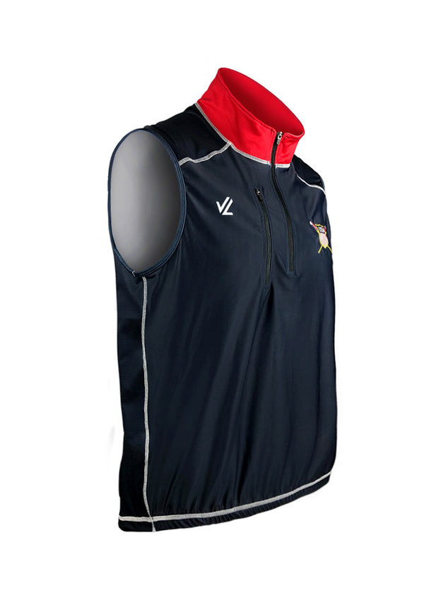 USRowing Midweight Turtleshell Vest Navy Crest