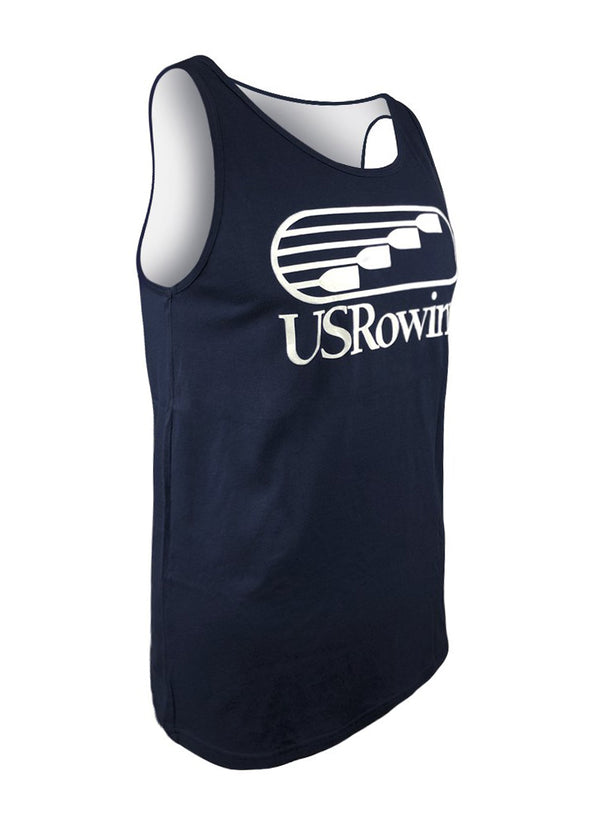 USRowing Men's Tank Navy