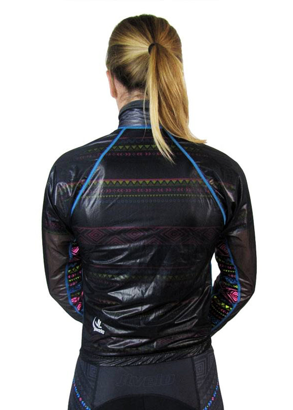Women's Invisible Rain Jacket Tribal Collection Smokey
