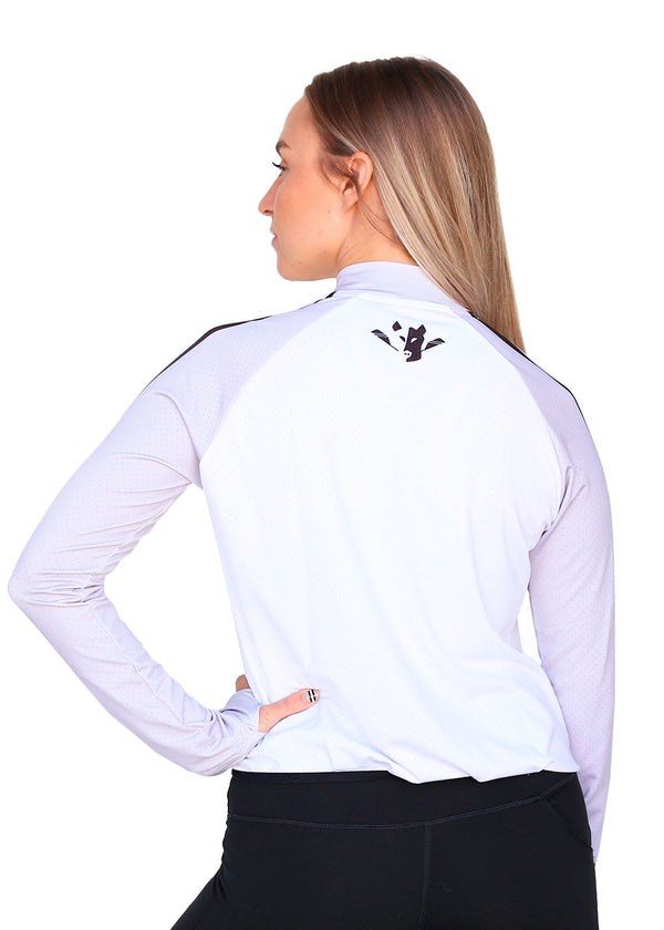 Wild Oar Women's Crop Jacket Gray/White