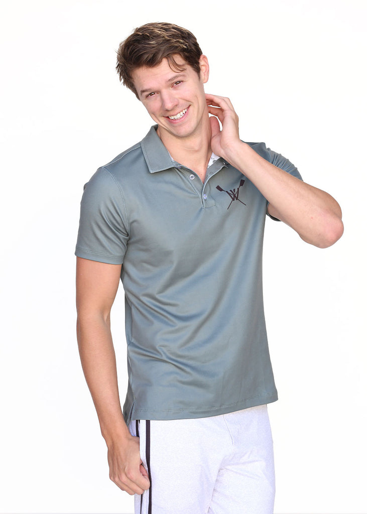 Wild Oar Men's Green Polo