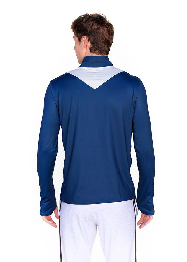 Wild Oar Men's Pro Panel Quarter Zip Navy