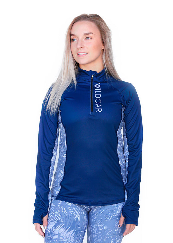 Tech Shirts Technical Shirts Performance Top Performance Tank Workout Top Long Sleeve Short Sleeve Tshirt Wild Oar Women's Logo Quarter Zip Navy Wild Oar Long Sleeve, Quarterzips, Tops $79.00 Size Small  JLAthletics