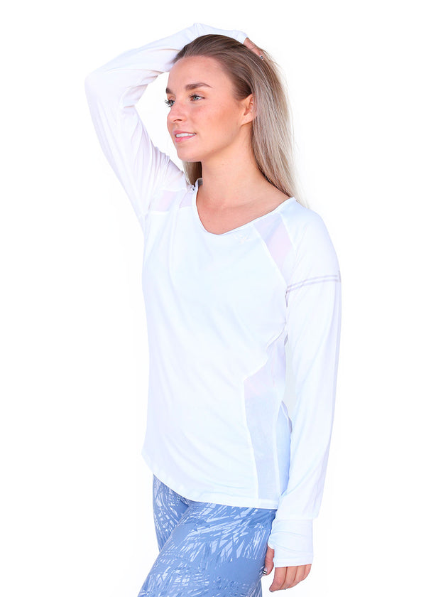 Tech Shirts Technical Shirts Performance Top Performance Tank Workout Top Long Sleeve Short Sleeve Tshirt Wild Oar Women's White Longsleeve Wild Oar $50-$100, Long Sleeve, Performance Shirts, Tops, Women's $69.00 Size Small  JLAthletics