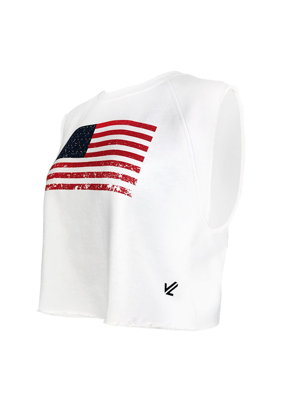 Women's Flag Crop Top
