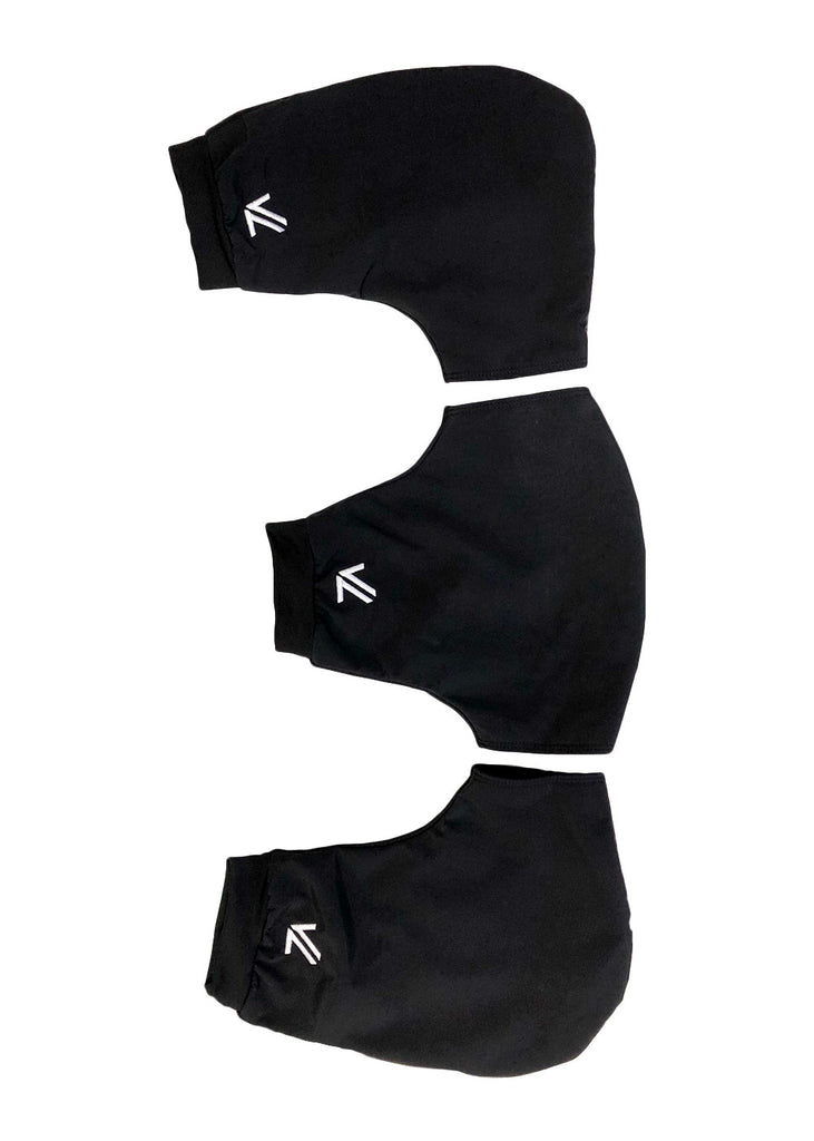 Three Piece Pogie Set Black