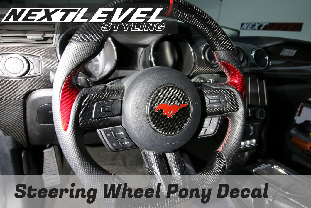 Steering wheel pony graphic (2015-17 mustang)