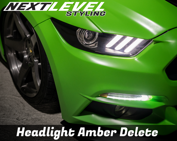 2015-2017 Mustang headlight amber delete