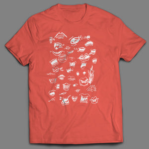 High Pulp Loud-mouth T-shirt in Coral Silk
