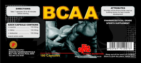 BCAA 180 capsules (Sugar/artificial-sugar free)