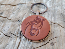 Load image into Gallery viewer, Horse Stamped Leather Keychain