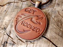 Load image into Gallery viewer, Get Hooked Leather Keychain