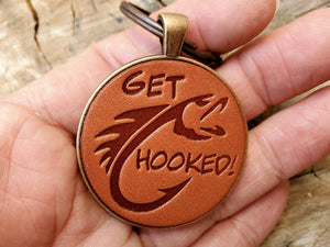 Get Hooked Leather Keychain