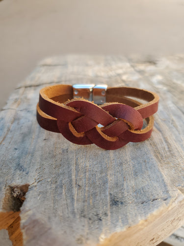 Braided Leather Knot Bracelet