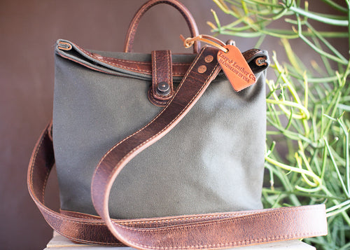 Canvas Leather Mail Bag