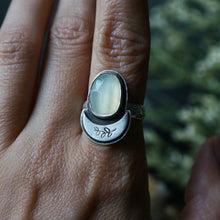 Ivory Moon Ring - Size 6.5
