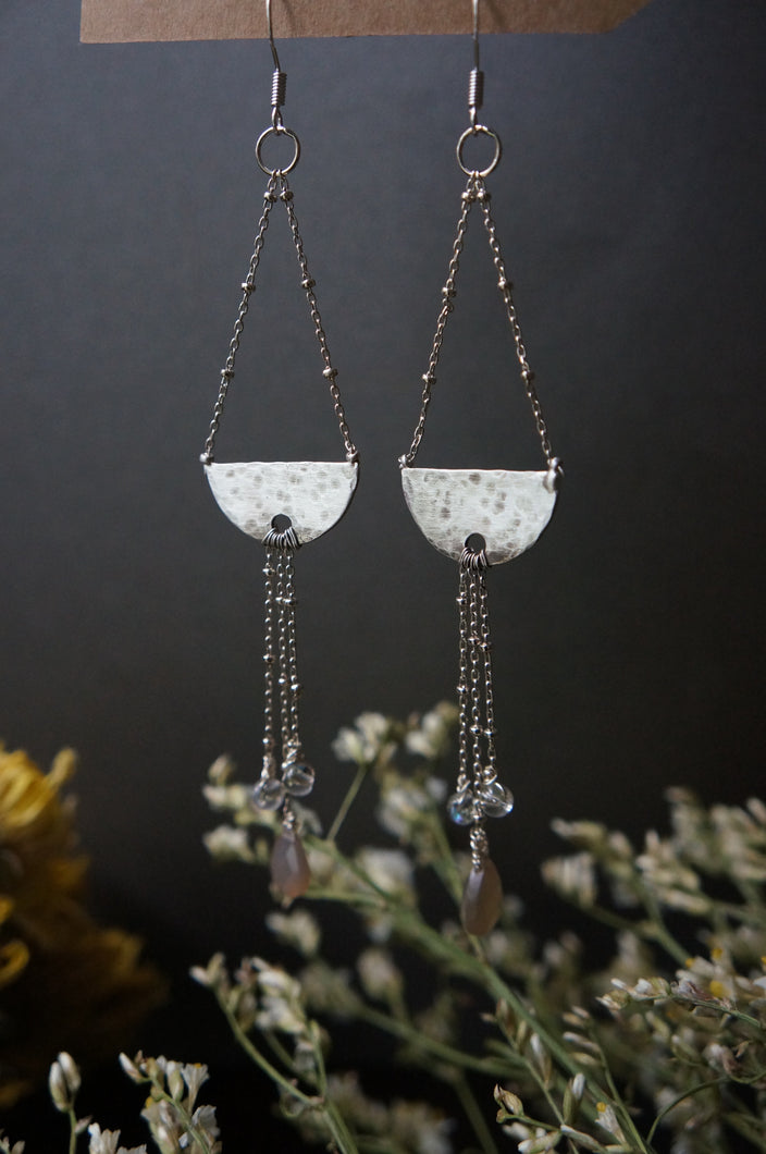 Under the Quarter Moon Earrings