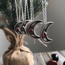 Crimson Moon Necklace