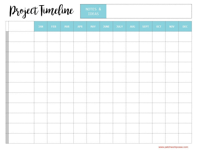 Project Timeline Printable
