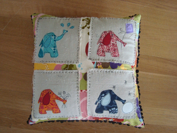 Four Seasons Elephant Pillow
