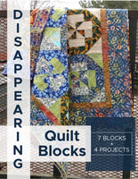 Disappearing Quilt Block ebook. Learn the technique with 7 different quilt blocks and 4 fun projects.